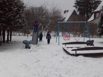 Śnieżne zabawy